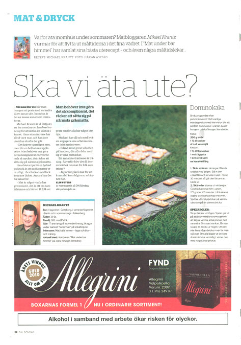 Dagens Nyheter sidan 22
